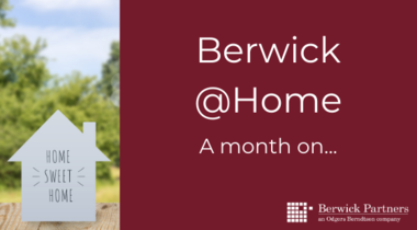 Berwick @Home – a month on